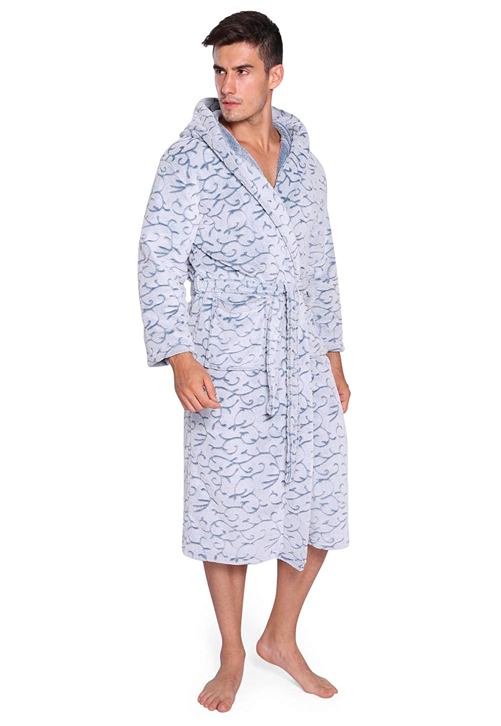 1b8c688319 Vislivin plush mens robe long bathrobes hooded christmas supplies jpg  1001x1450 Long bath robes mens