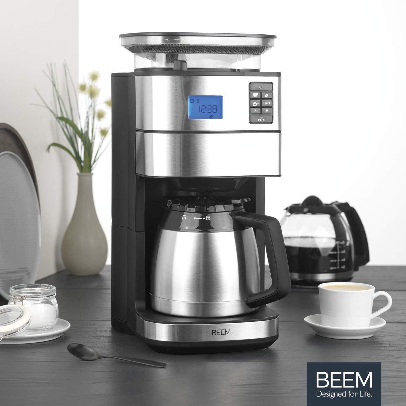 Kaffeemaschine mit Mahlwerk und Thermoskanne von Beem