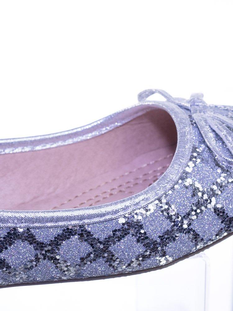 Link Children Girls Fancy Round Toe Ballet Flat w Criss Cross Glitter by Link (Image #5)