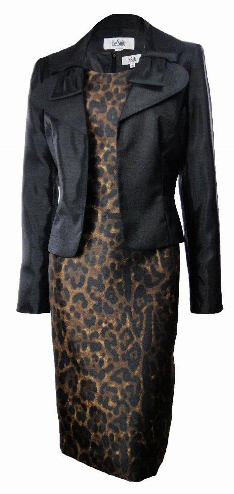 Le Suit Safari Nights Jacket Dress Black/Amber 6