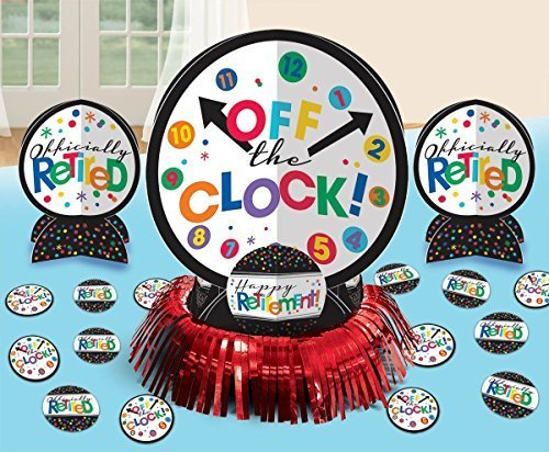Amscan Fun-Filled Retirement Party Off the Clock! Table Decorating Kit, Multi Color, 13.8 x 11.8 (Two-Pack)