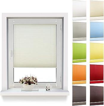 Plissee Plißee ohne Bohren Klemmfix Jalousie Rollos blickdicht für Fenster Tür