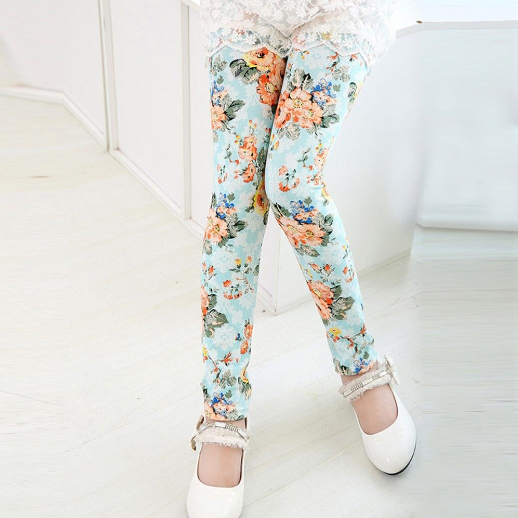 FEITONG Big Girls Pencil Pants Children Trousers New Printing Leggings Flower Kids Classic Pants