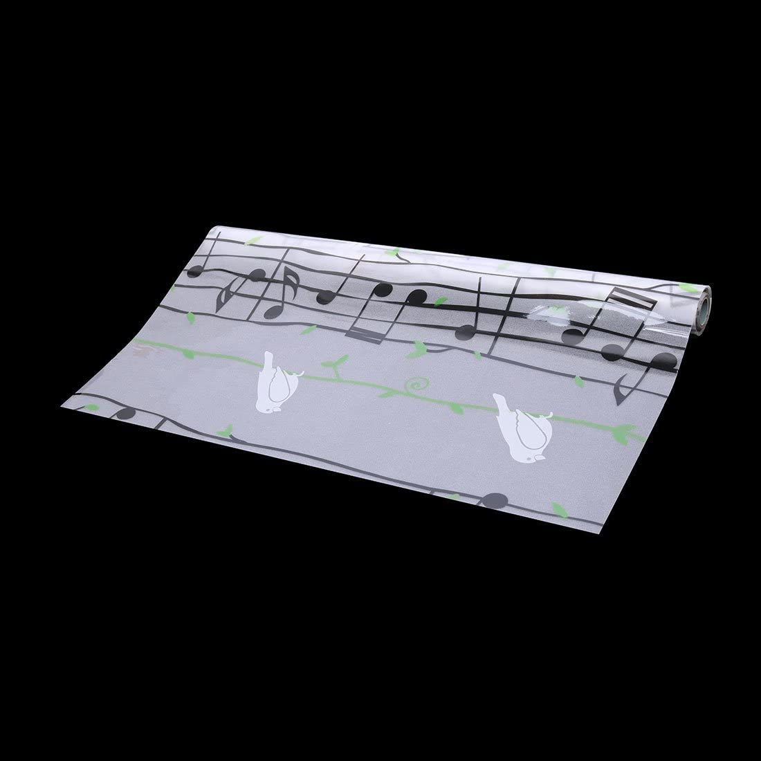 5 x 0.45m sourcingmap/® D/époli PVC mur Salle bains Verre D/écor atif bord fen/être