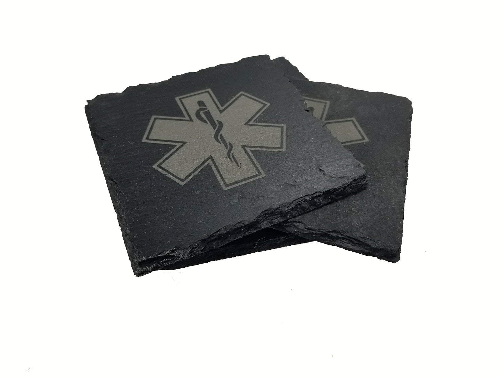 EMT/EMS/Paramedic Slate Coaster Set by five1designs