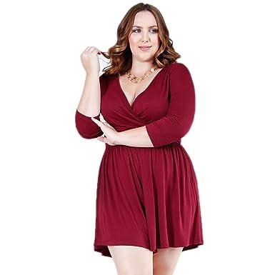 Amazon Verona Couture Plus Size Romper Jumpsuit Deep V Neck