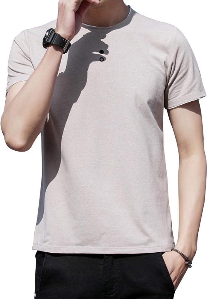 Bestgift - Conjunto de camisa de cáñamo para hombre (cuello fino, talla S) caqui X-Large: Amazon.es: Ropa y accesorios