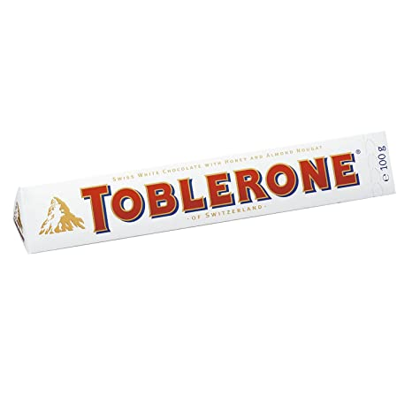 Toblerone Weiß, Tafel Mit Weißer Schokolade, 5er Pack (5 X 100 G)