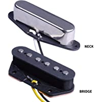 ASCENDAS TC5&TM5- Single Coil Vintage Guitar Pickups Set Neck and Bridge Pickup Compatible with Tele Telecaster Style Electric Guitar Parts Replacement (Neck&Bridge)