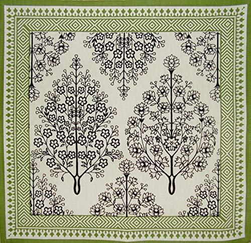 India Arts French Floral Print Cotton Napkin 17