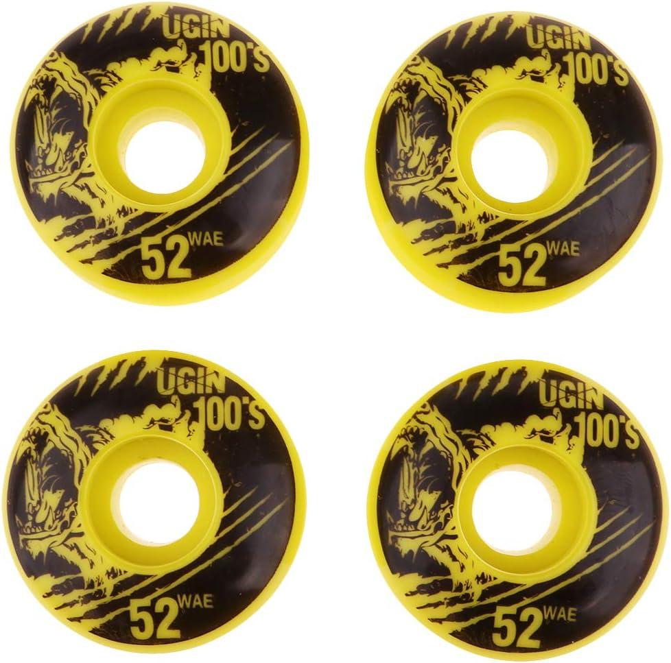 IPOTCH 4 x Skateboard R/äder Set Skateboard Rollen Longboard Wheel Set