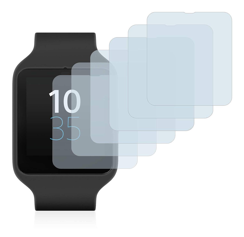 savvies Protector Pantalla Compatible con Sony Smartwatch 3 SWR50 (6 Unidades) Pelicula Ultra Transparente
