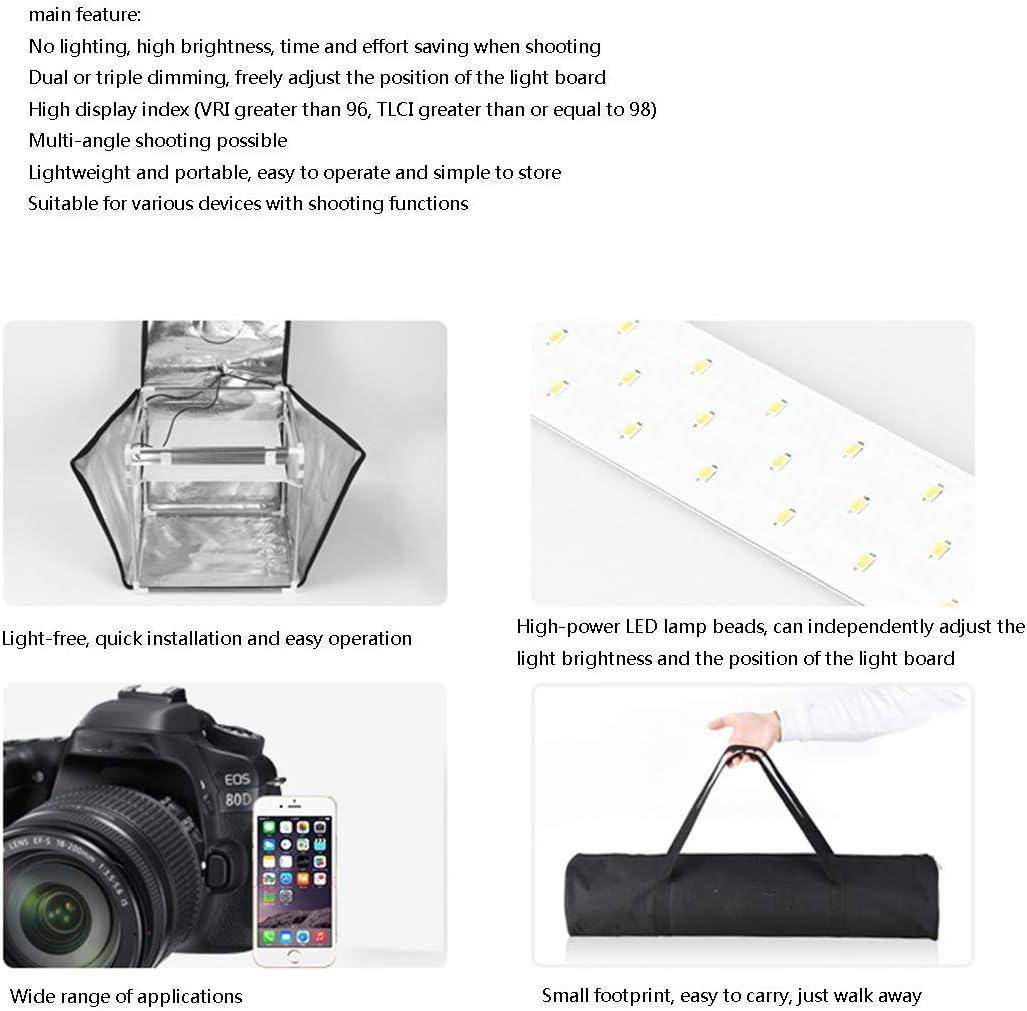Food HWENJ Photo Studio Tent Photography Studio Kit, Portable Photo Studio Box Folding Shooting Tent Kit, White Soft Box Light Tent ,for Jewellery Shoes Photography Etc