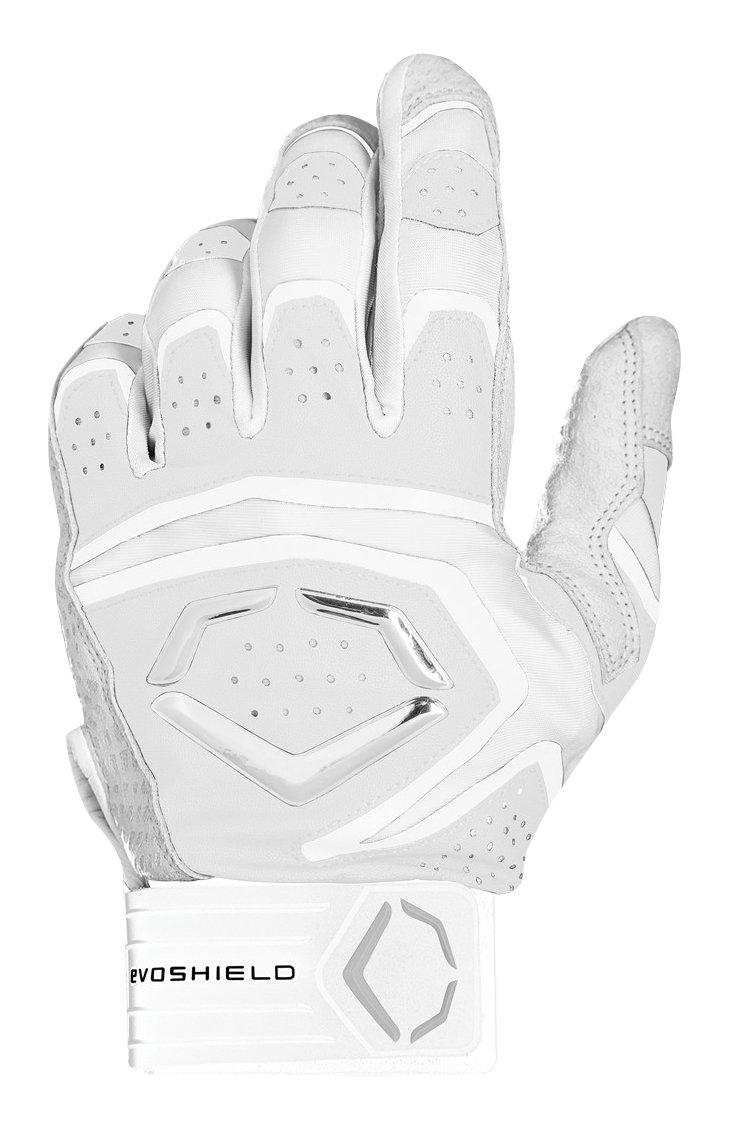 ウィルソンスポーツ用品EvoShield Youth Impakt 950バッティング手袋 B06Y1ZS5HN Large|ホワイト ホワイト Large