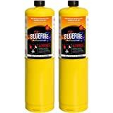 Pack of 2, BLUEFIRE Modern MAPP Gas Cylinder, 16.1 oz, 14% More Bonus Fuel than MAP/PRO, Hotter than Propane! Variation…