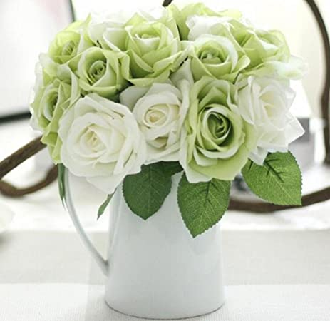 Amazon helen ou 1 bunch artificial bridal bouquet great helen ou 1 bunch artificial bridal bouquet great decoration silk flowers romantic rose white and mightylinksfo