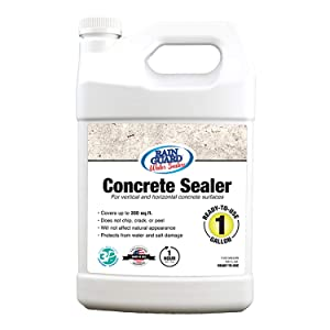 Rain Guard Water Sealers SP-4004 Concrete Sealer Ready to Use - Water Repellent for Interior or Exterior Concrete - Covers up to 200 Sq. Ft, 1 Gallon, Invisible Clear