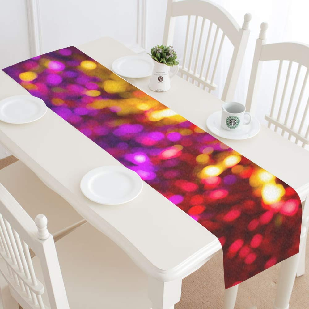 Abstract Blur Blurred Bokeh Color Table Runner, Kitchen Dining Table Runner 16 X 72 Inch For Dinner Parties, Events, Decor by RYUIFI (Image #2)