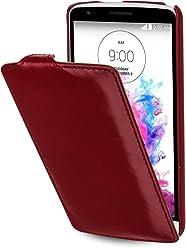StilGut® UltraSlim Case, custodia in pelle per LG G3 Stylus, rosso vinaccia