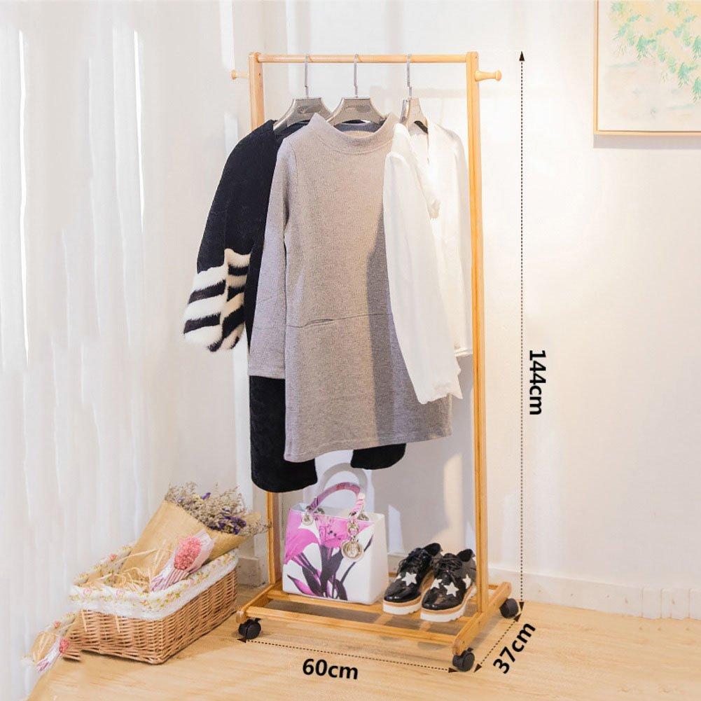 Amazon.com: ZY, recámara Mobile perchero de ropa soporte ...