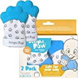 Delight Paw Baby Teething Mitten Mom Designed | Self Soothing Pain Relief | Hygienic Travel Bag | No BPA | Like Munch…