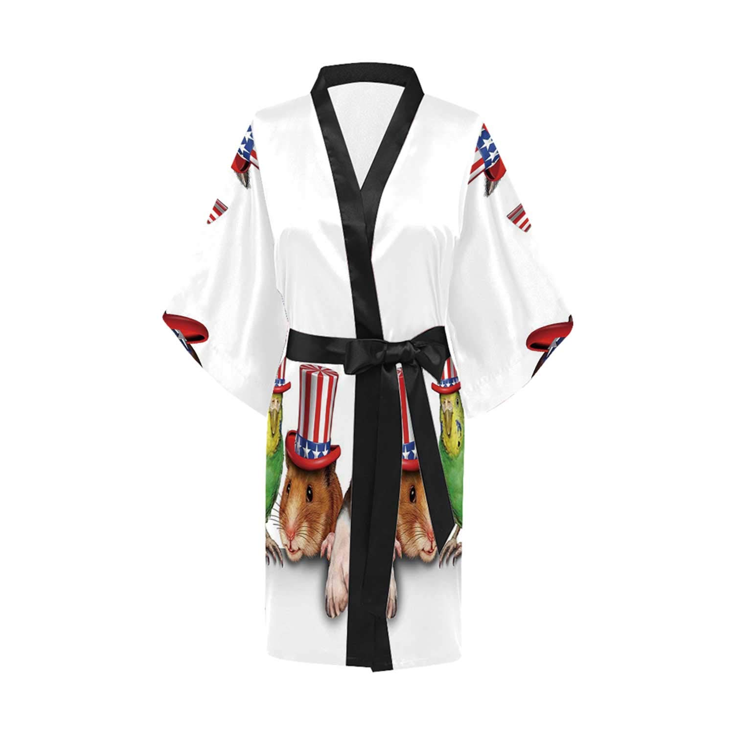Fourth of July Stylish Kimono Robe,for Vacation by C COABALLA