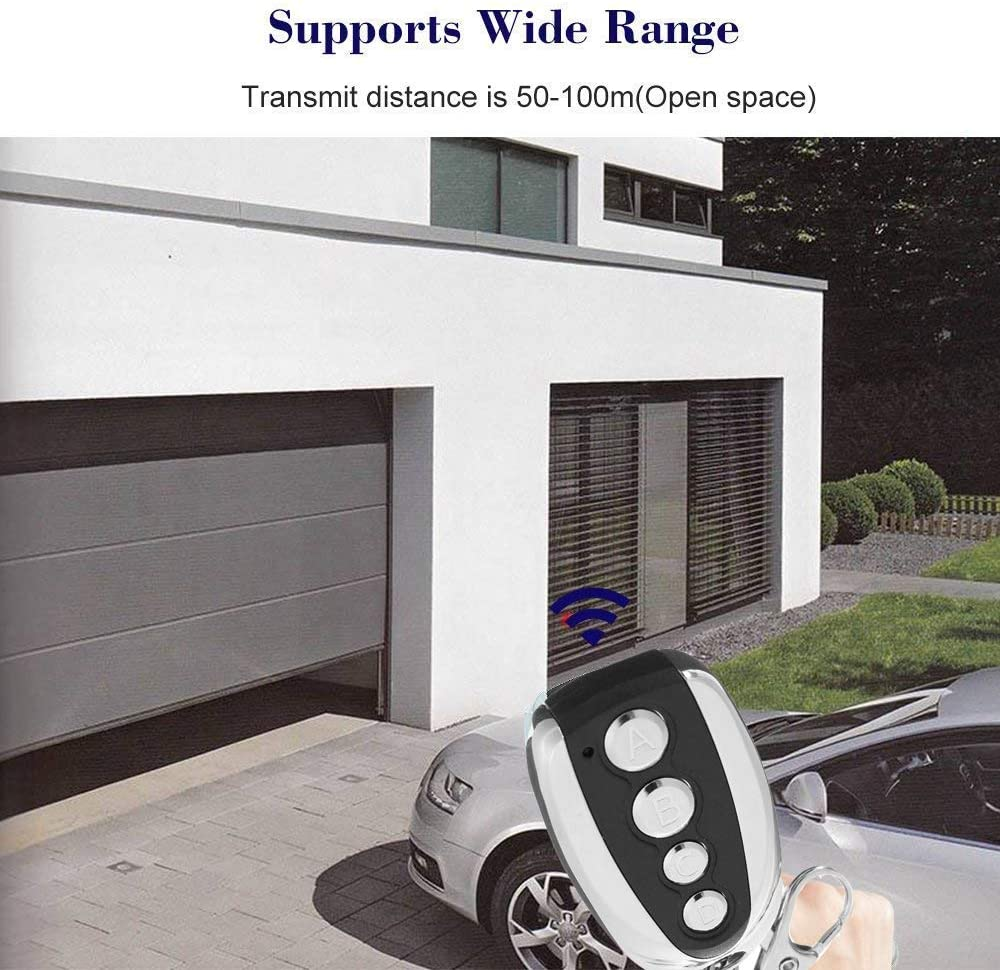 QiliLuck - Mando a distancia universal para puerta de garaje, 433,9 MHz, con cuatro canales para llave antigua, 2 unidades: Amazon.es: Bricolaje y herramientas