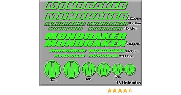 Ecoshirt AJ-BU0C-SJTR Pegatinas Mondraker R51 Stickers Aufkleber Decals Autocollants Adesivi, Verde: Amazon.es: Coche y moto