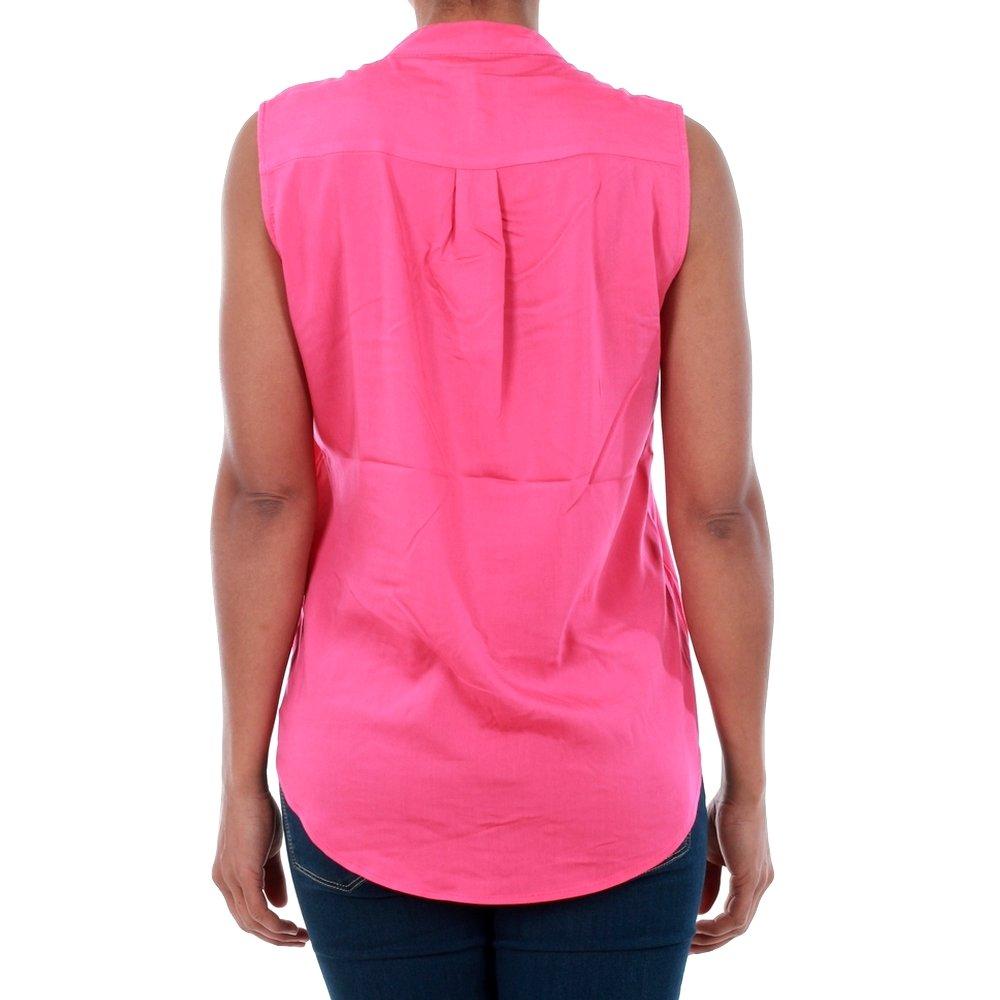 Vero Moda Camisa Mujer Fucsia 10192814 VMERIKA Mix S/L Shirt NFS Beetroot Purple: Amazon.es: Ropa y accesorios