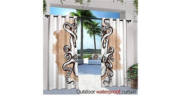 cobeDecor - Cortinas de balcón con diseño de Gato y Gato para Dormir con Ella, Color Pastel y Libro, Impermeables, con Ojales: Amazon.es: Jardín