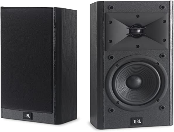 JBL Arena B15 Black Bookshelf Surround Speaker with Special Edition Grilles Logo Set of 2 Black