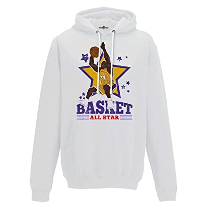 KiarenzaFD Sudadera Capucha Baloncesto Vintage Parodia All Star Shaquille O Neal Shaq Attack 2,