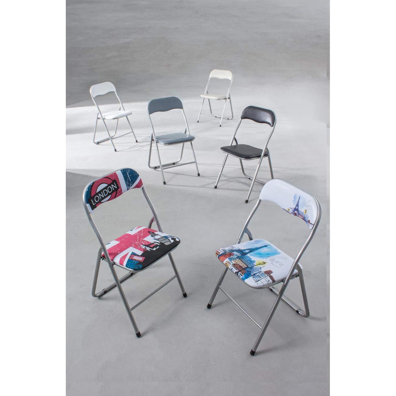 ARREDinITALY Juego de 6 sillas Plegables Londres: Amazon.es ...