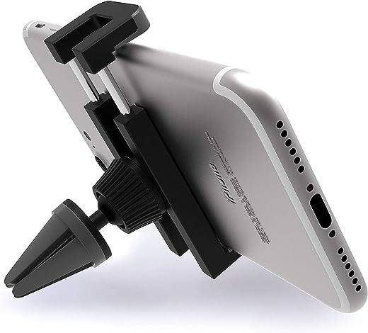 iVoler® Porta Cellulare Auto con Clip - Universale Supporto Auto Smartphone 360 Gradi Rotazione Air Vent Car Mount per iPhone 7/7 Plus/6S/5S/5C/SE, Samsung Galaxy S7/S7 Edge/S6/S6 Edge/S5, Nexus 6P/5X, LG, Sony Xperia, Huawei, GPS e Altro - Blu/Nero