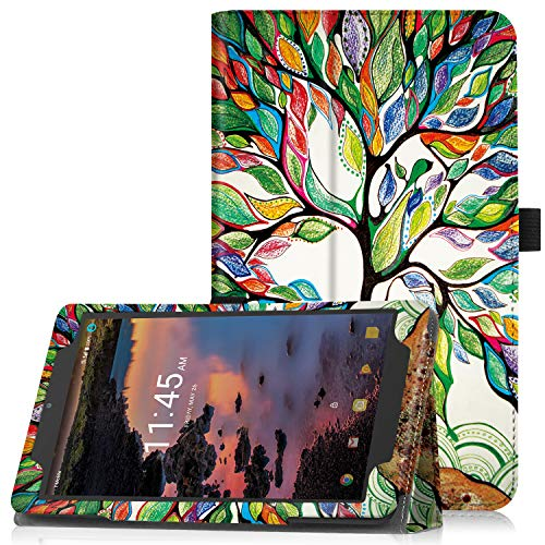Famavala Case Cover Compatible with 8 T-Mobile Alcatel Joy Tab 2019 / 3T 2018 / A30 2017 Tablet(LuckyTree)