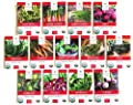 Sweet Yards Seed Co Spring and Fall Vegetable Organic Variety Pack - 13 Unique Packets of Non-GMO USDA Certified Organic Pure Seeds for Cool Weather