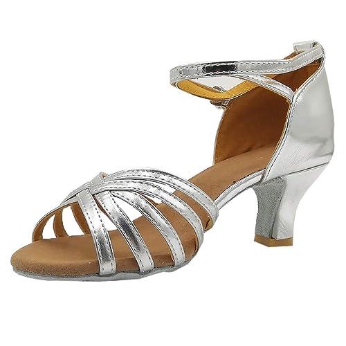 DEELIN Eleganti Scarpe da Ballo Latino Donna Peep Toe Scarpe