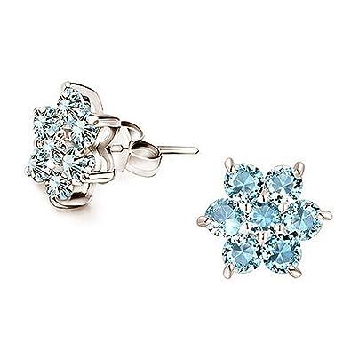d2a0f66bf URBAN SHe° Frozen Blue Christmas Winter Flower Snowflake Earrings Festive  Christmas Gift Jewellery Women (Aqua Blue Snowflake Studs) ...: Amazon.co.uk:  ...