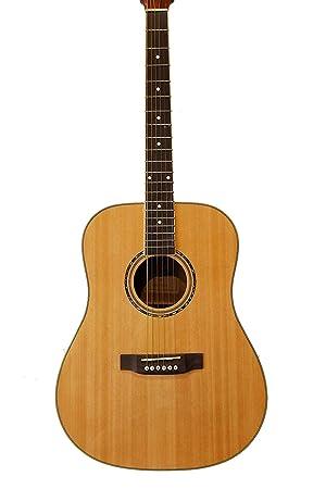 Guitarra Acústica de Caoba + 4 púas + 2 golpeadores + herramienta para ajustar mástil.: Amazon.es: Instrumentos musicales