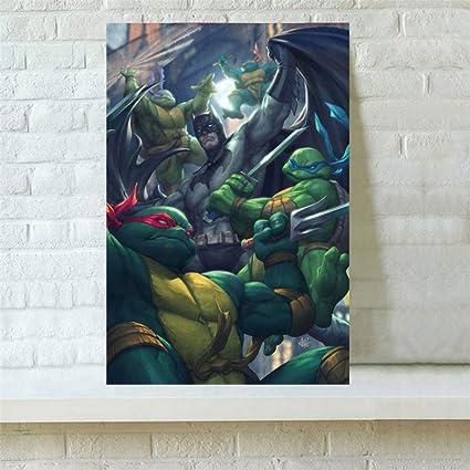 Amazon.com: Artwcm Batman Tmnt Pintura al óleo Moderna ...