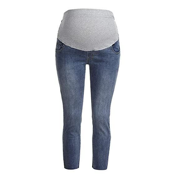 32ce0cc165e17 Women Maternity Clothes Pregnancy Ripped Jeans Maternity Nursing Style de Pants  Trousers Fête Prop Belly Legging Pregnancy Pants Slim Fit Maternity Jeans:  ...