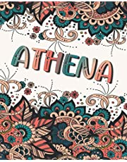 ATHENA GIFT: Beautiful Athena Name Journal (Lined Notebook - Card Alternative)