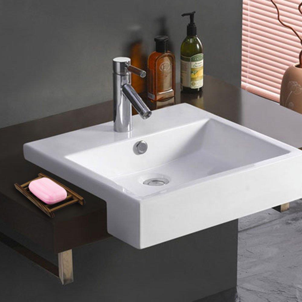 YuCool Juego de 4 jabones de madera para baño, 2 tipos diferentes, para fregadero, bañera, bañera, ducha, jabón, esponja: Amazon.es: Hogar