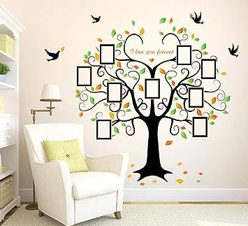 ZBYLL Wall Sticker Herzförmigen Bilderrahmen Baum Wohnzimmer ...