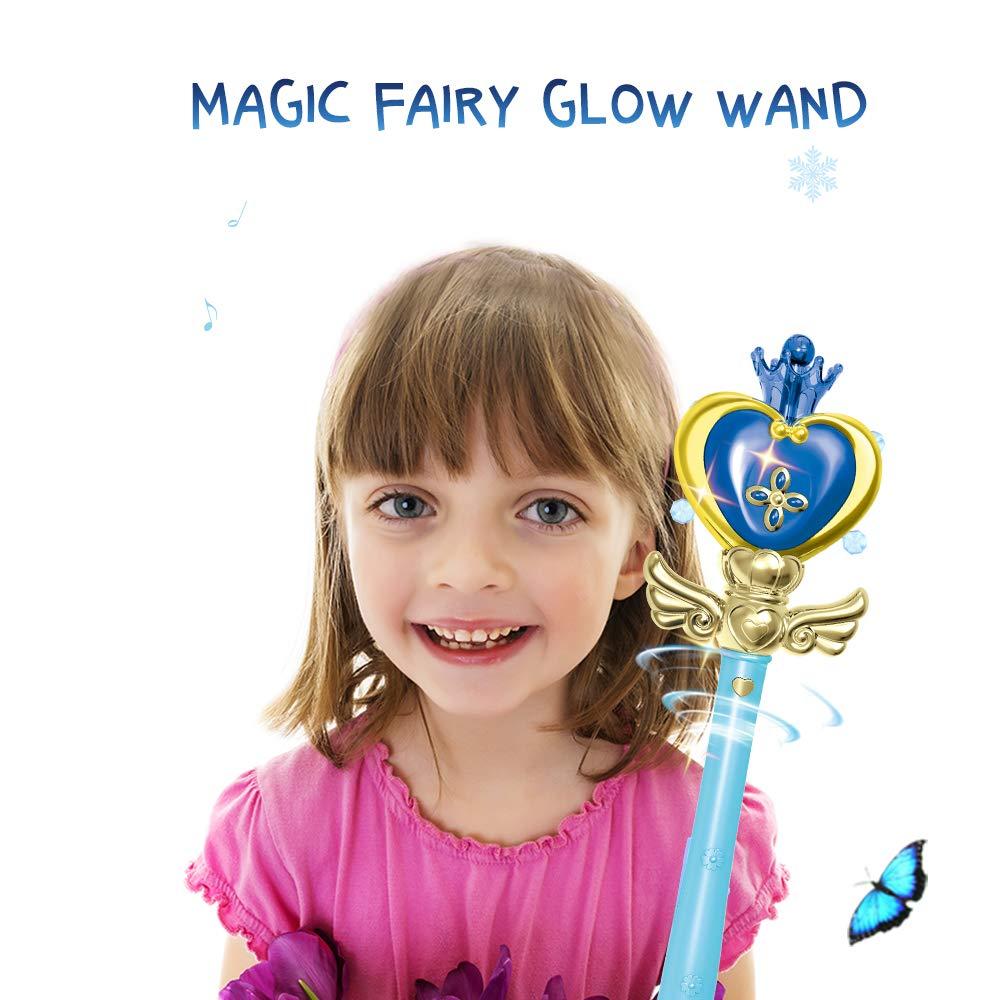 Giochi e giocattoli Rosa 1 Goolsky Magic Light Wand Stick Cosplay Fairy Glow Stick Toys Come Regali di Natale per i Bambini Kit di magia