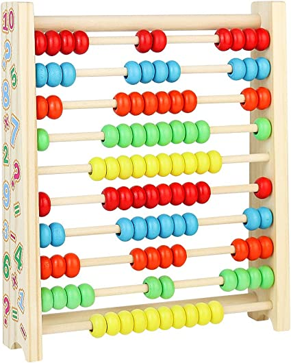 Abacus Wooden Counting Toys Games Frame Kids Educational Toys For 3 4 5 Year Old Learning Math Fun Toy