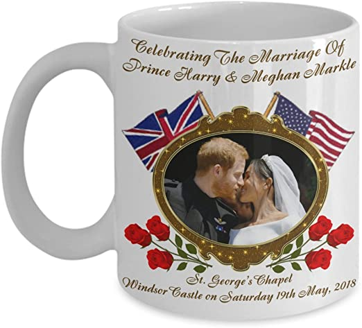 Prince Harry And Meghan Markle Royal Wedding American Rose Commemorative  Coffee Mug