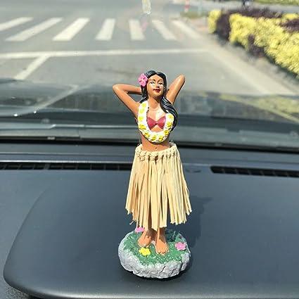 Chica hawaiana SMYER posando sobre mini tablero, muñeca con falda ...