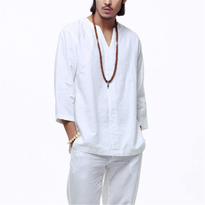 7dfc635bbed Image Unavailable. Image not available for. Color  Sonjer Chinese Style Linen  Shirt Men ...