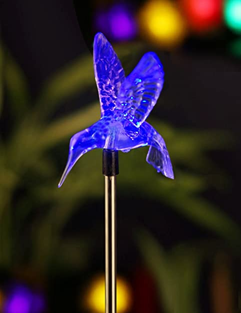 Bright zeal 4 life size hummingbird led color changing solar stake bright zeal 4quot life size hummingbird led color changing solar stake lights outdoor workwithnaturefo